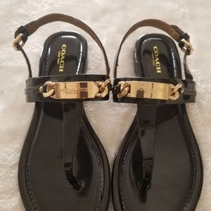 Coach New York T Strap Sandals Size 6